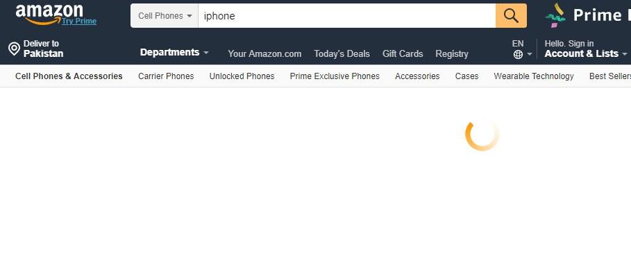 Amazon loading