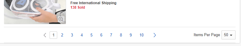 eBay pagination